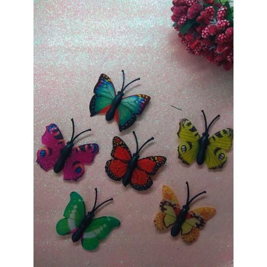 Бабочки декоративные 4 см, цена за 1 шт