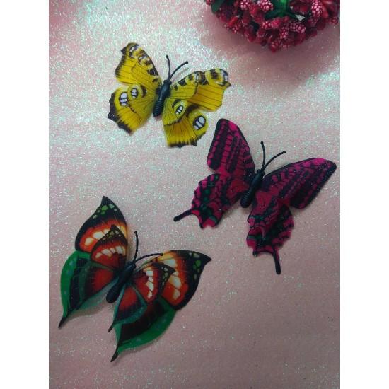 Бабочки декоративные 7 см, цена за 1 шт