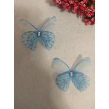 Бабочки шифоновые средние 4,5 см , цена за 1 шт