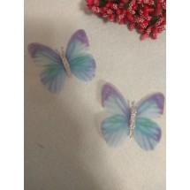 Бабочки шифоновые большие 5,5 см , цена за 1 шт