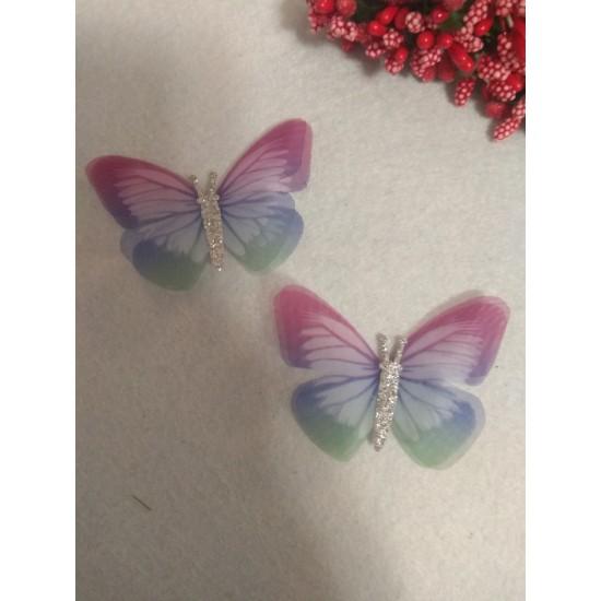 Бабочки шифоновые большие 6 см , цена за 1 шт