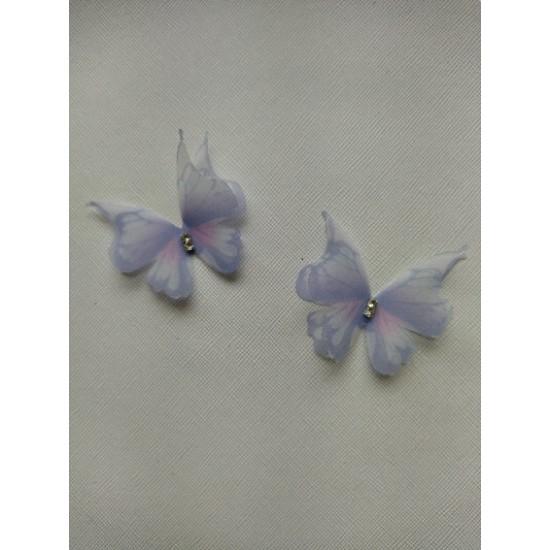 Бабочки шифоновые средние 4,5 см №35, цена за 1 шт