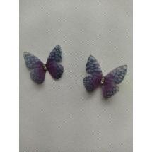 Бабочки шифоновые большие 3 см №1, цена за 1 шт