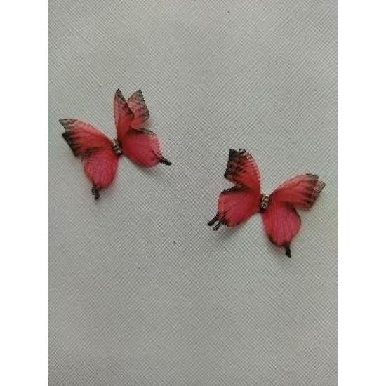 Бабочки шифоновые большие 3 см №5, цена за 1 шт