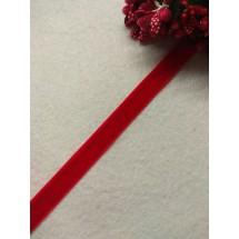 Лента бархатная 1 см, цв. красный, цена за 1 м