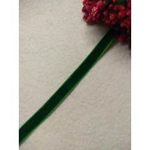 Лента бархатная 1 см, цв. зеленый, цена за 1 м