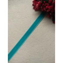 Лента бархатная 1 см, цв. голубой, цена за 1 м