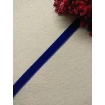 Лента бархатная 1 см, цв. синий, цена за 1 м