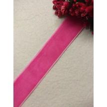Лента бархатная 2,5 см, цв. розовый, цена за 1 м