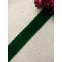 Лента бархатная 2,5 см, цв. зеленый, цена за 1 м