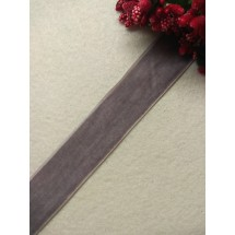Лента бархатная 2,5 см, цв. серый, цена за 1 м