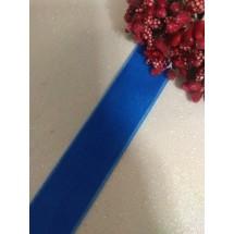 Лента бархатная 2,5 см синяя 69, цена за 1 м