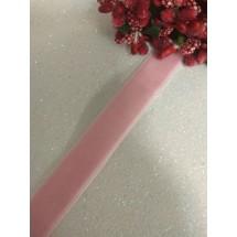 Лента бархатная 1,5 см розовая 36, цена за 1 м
