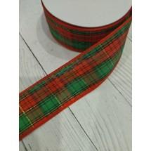 Лента шотландка тканевая 4см, цена за 1 м