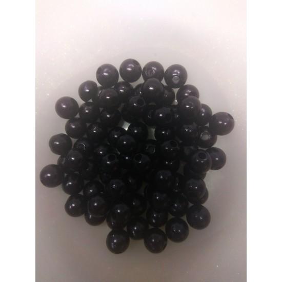 Бусины под жемчуг 10 мм черный, цена за 20 гр