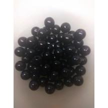 Бусины под жемчуг 12 мм черный, цена за 20 гр