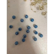 Бусины акрил глянцевые d=8 мм синие 80, цена за 20 гр
