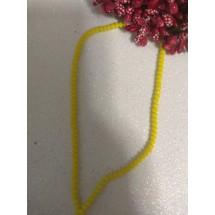 Бусины на леске стеклянные матовые граненые d 3 мм желтые 111, цена за 50 шт
