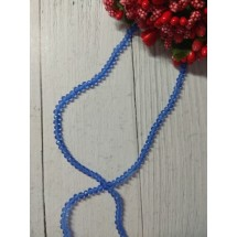 Бусины на леске стеклянные граненые d=3 мм синие 18, цена за 50 шт