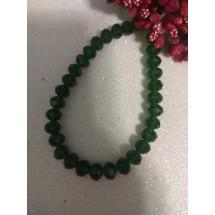 Бусины на леске стеклянные граненые d 8 мм зеленые 11, цена за 20 шт