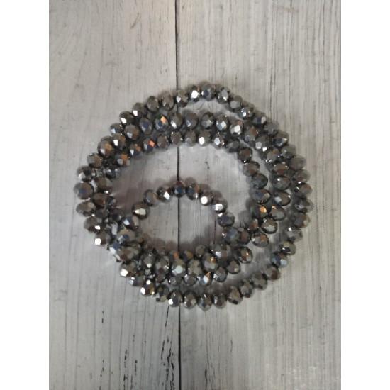 Бусины стеклянные 4 мм серебро №28, цена за 50 шт