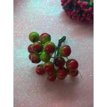 Ягодки глянцевые на проволоке 10 мм, цена за 20 ягодок