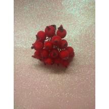 Ягодки сахарные на проволоке 12 мм цв. красный, цена за 20 ягодок