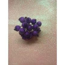Ягодки сахарные на проволоке 12 мм цв. фиолетовый, цена за 20 ягодок