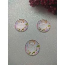 Кабошоны-фишки (стекло) 25мм, цена за 1 шт