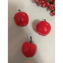 Муляж декоративный яблоко красное, цена за 1 шт