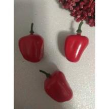 Муляж перца болгарского 3,5*3 см  красный, цена за 1 шт