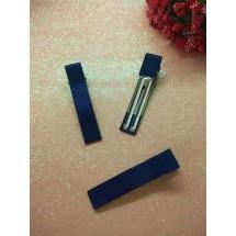 Заколка-основа в репсовой обтяжке 5 см темно-синий, цена за 1 шт
