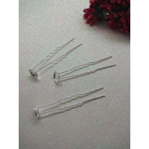 Шпилька-основа металл серебро 6,5 см, цена за 1 шт
