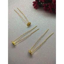 Шпилька-основа металл золото 6,5 см, цена за 1 шт