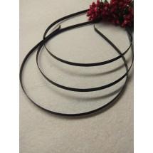 Ободок-основа металл (черные) 5 мм, цена за 1 шт