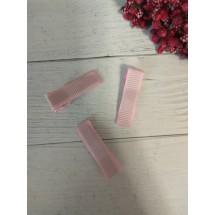 Заколка-основа 3,5 см, с репсовой лентой, цв. розовый, цена за 1 шт