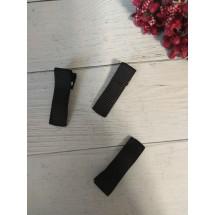 Заколка-основа 3,5 см, с репсовой лентой, цв. черный, цена за 1 шт