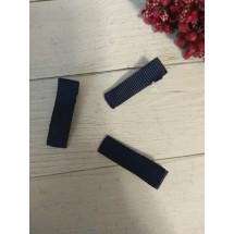 Заколка-основа 3,5 см, с репсовой лентой, цв. т.-синий, цена за 1 шт