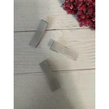 Заколка-основа 3,5 см, с репсовой лентой, цв. серый, цена за 1 шт