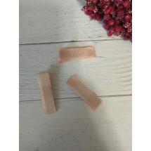 Заколка-основа 3,5 см, с репсовой лентой, цв. персиковый, цена за 1 шт