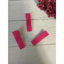 Заколка-основа 3,5 см, с репсовой лентой, цв. малиновый, цена за 1 шт