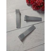 Заколка-основа в репсовой обтяжке 5 см серый, цена за 1 шт