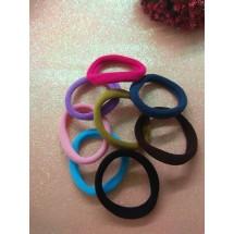 Резинки для волос бесшовные узкие 4 см микс №3, цена за 10 шт