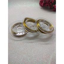 Проволока бисерная 0,3 мм*10 м, цв. золотой, цена 1 шт