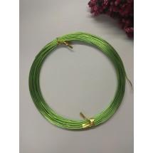 Проволока 1 мм*10 м, цв. травяной, цена 1 шт