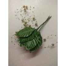 Листья искусственные 60*38 мм 12 шт зелёные, цена за пучок