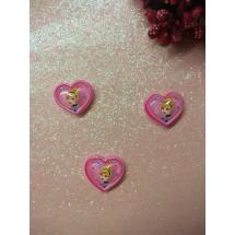 """Кабошон """"Сердце с принцессой"""" 18*20 мм, цена за 1 шт"""