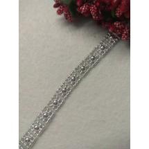 Бусы декор. кант на нитке (серебро) 10 мм, цена  за 1 м