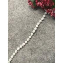 Бусы на нитке под жемчуг (бел.) 5 мм, цена  за 1 м