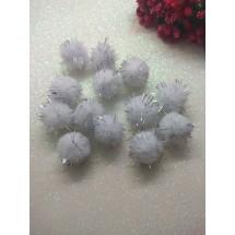 Помпоны с люрексом 2 см, цена за 10 гр (около 39 шт)